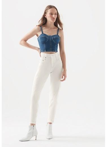 Mavi Bıanca Icon Kırık  Jean Pantolon Beyaz